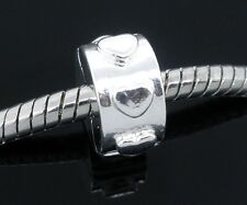 One Stopper Clip Lock Silver plated Charm Bead Fits European Charm Bracelet C30