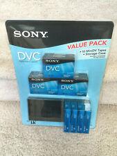 New Sony Dvc Value Pack - 10 MiniDv Tapes + Storage Case