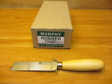 "Murphy 4SQRU - ONE DOZEN Square Point Rubber Insulation Carpet Knife 4"" Knives"
