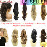 Synthetic Jaw Poytail Hairpiece Claw Clip On Pony Tail Drawstring Hair Extension