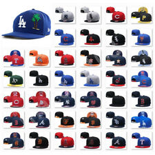 Embroidered MLB Teams Logo Baseball Cap Adjustable Snapback Flat Brim Hat Unisex