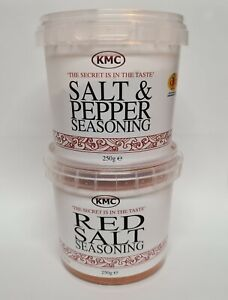 KMC Double Pack - 1 x Salt & Pepper Seasoning & 1 x Red Salt