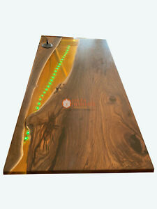Custom Resin Epoxy River Table Live Edge Customize Dining Conference Table Tops