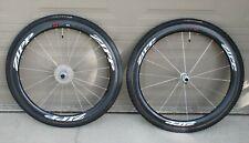 Zipp 303 Firecrest carbon fiber tubular road cyclocross wheels CX tires mounted