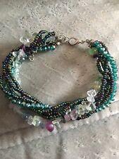 New Fluorite  Gem Stone Beads  Bracelet
