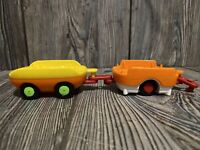 Vtech Go Go Smart Wheels Train Replacement lot of 2 cargo cars yellow & orange