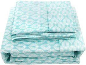 MARQUESS Luxury Printed Flannel Sheet Set - Deep Pocket - Super Soft Bedding Set