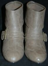 UK Brand New Look Your Feet Feel Gorgeous! Brown Cuffed Ankle Wedge Boots Sz 39