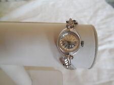 Vintage Benrus silver tone 17 jewel ladies windup watch working