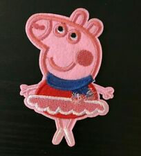 1 piece peppa pig Cartoon embroidery patch SEW on/IRON on NEW  2.5