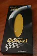 Couvre Volant en Cuir JAUNE & NOIR pour PEUGEOT 306 . ISOTTA Made in ITALY .NEUF
