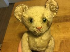 "ANTIQUE GERMAN RARE STEIFF JOINTED TABBY CAT KITTEN 6"" NO ID TIMEWORN CONDITION"