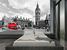 Red Bus Black White London Big Ben Photo Wallpaper Wall Mural GIANT WALL DECOR