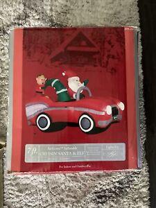 7 ft Airblown Inflatable Crusin Santa & Elf