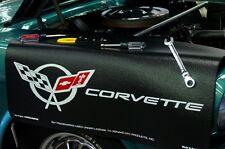 Chevy Black Corvette C5 car mechanics fender cover paint protector vintage style
