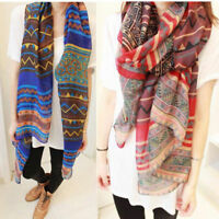 Women Ladies Long Fashion Soft Voile Shawl Scarf Scarves Stole Chiffon Neck Wrap