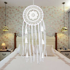 Dream Catcher White feathers handmade Balinese Gift Wall Hanging Decor