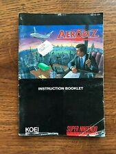 Aerobiz Aero Biz SNES Super Nintendo Instruction Manual Only