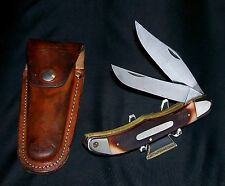 "Schrade 25OT Knife & Sheath Old Timer 1970's Folding Bowie 5-1/4"" Brilliant Rare"