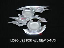 Isuzu Dmax D-Max Chrome Door Handle Insert Cup Bowl 4 Door Ute Cab 2012-2016 17