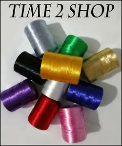 10 Basic Colours of Floss Spools Machine Embroidery Thread Guterman ,Brother UK