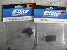 Lot o 2 Packs Rc Parts Eflite Elevator Control Lever Set & Tail Drive Shaft Nip