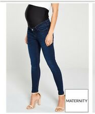 Maternity Jeans Skinny Fit Size 8 Dark Blue (indigo)
