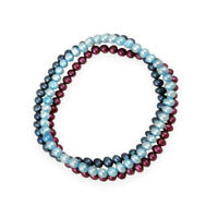 5-5.5mm Multi Color Freshwater Cultured Pearls Set of 3 Stretch Bracelets