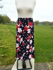 COUNTRY CASUALS Navy Red Mix Pull On Skirt Lined Plus Size 22 - 24 BNWT RRP £89