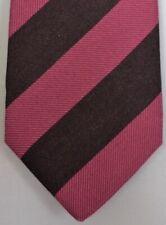 """Kiton Napoli Mens 7 Fold Handmade Wool Stripe Tie NEW 59"""" X 3.5"""" SKU B32/1 $350"""