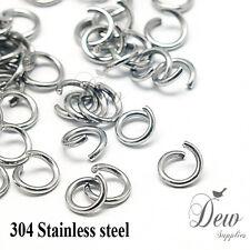 100 x 8mm stainless steel jump rings connectors jewellery findings