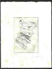 VASSILLY KANDINSKY Old Etching - Hand signed in pencil