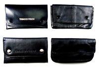 Black Soft Leather Tobacco Pouch Tobacco Bag Tobacco Purse Organizer Case