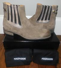 $395! NEW MAGNANNI 16544 CHELSEA SAND SUEDE LEATHER ANKLE BOOTS SHOES MENS 12/45