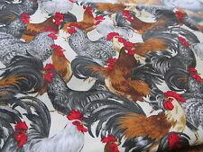 Cotton Fabric Galaxy Collection Rooster Ee Schenck chicken Bthy half yard cut