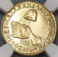 1842-Mo MS 62 Mexico Gold 1/2 Escudo Mint State Coin (19092701C)