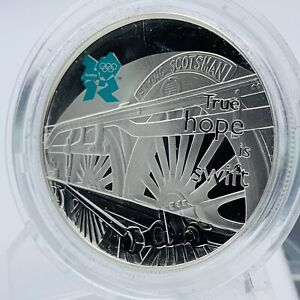2009 LONDON OLYMPIC 2012 FLYING SCOTSMAN SILVER PROOF £5 COIN & CERTIFICATE