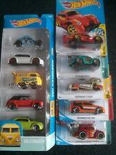 Hot Wheels Volkswagen Bundle (10 cars): Beetle, Golf, T2, Kafer, Tooned, GTi.