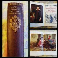 Complete Works of Shakespeare Odhams Press 1930s Illustrated Ellen Terry Vintage