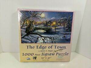 """The Edge Of Town by James A. Meger 1000 Pc 19"""" x 30"""" Jigsaw Puzzle - SunsOut"""