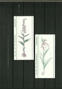 Norway, 2 stamp booklets, 1992, orchids, MNH