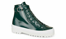 Superga X Alexa Chung 2244 Patent Leather High-Top Sneakers in Forest Green