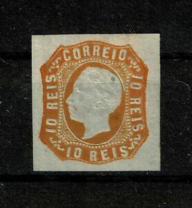 DF124 PORTUGAL 1862 King Luis I 10 reis orange MH