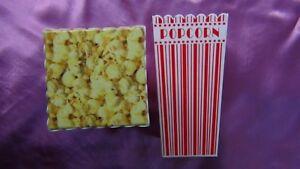 Set of 2 Popcorn Plastic Container Box Tub Bowl MSRF, Inc Design Chicago IL #