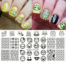 BORN PRETTY Rectangle Nail Art Stamp Template Image Plate Emoticon Tips BPX-L001