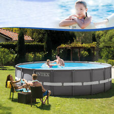 Intex 488x132 Set Swimming Pool Frame Stahlwandbecken Schwimmbecken Schwimmbad