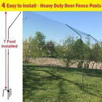 10 Fence Posts Steel Angle Black 8ft Deer Garden Posts