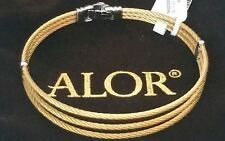 NWT ALOR Charriol Yellow Gold Stainless Steel Cable Bracelet