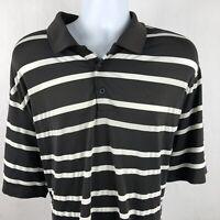 Nike Golf Men's XL Polo Shirt Dri Fit Striped Casual Camping Short Sleeve