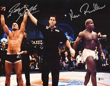 Kevin Randleman & Bas Rutten Signed 11x14 Photo BAS Beckett COA UFC 20 1999 Auto